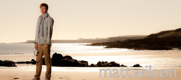 Matt Wilson on the beach